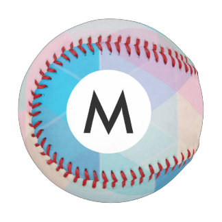 Colorful abstract triangles background baseball