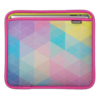 Colorful abstract triangles background iPad sleeve
