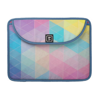 Colorful abstract triangles background sleeve for MacBook pro
