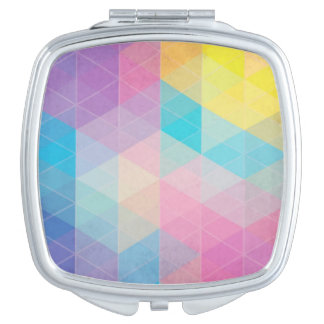 Colorful abstract triangles background makeup mirrors