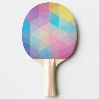 Colorful abstract triangles background Ping-Pong paddle