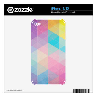 Colorful abstract triangles background skins for iPhone 4