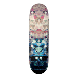 Colorful Abstract Triangles Skateboard