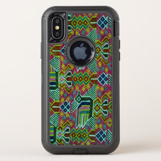 Colorful Abstract tribal Pattern OtterBox Defender iPhone X Case