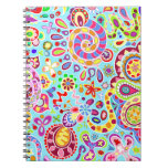 Colorful Abstract Trippy Art Notebook