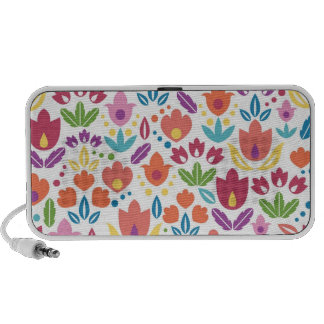 Colorful abstract tulips pattern mini speakers