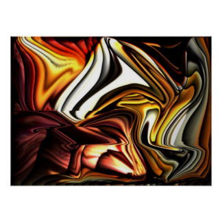 COLORFUL ABSTRACT VIBRANT HOME OFFICE DECOR by Teo Posters