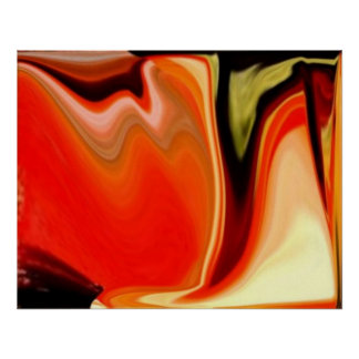 COLORFUL ABSTRACT VIBRANT HOME OFFICE DECOR by Teo Poster