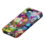 Colorful Abstract Vintage Flowers Collage iPhone SE/5/5s Case