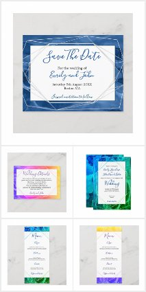 COLORFUL ABSTRACT WATERCOLOR WEDDING