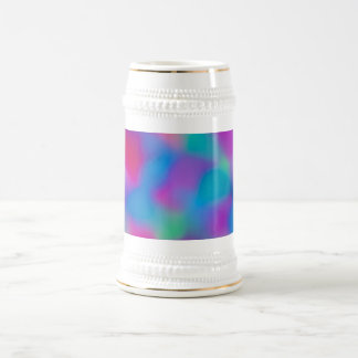 Colorful abstract watercolors pattern beer stein