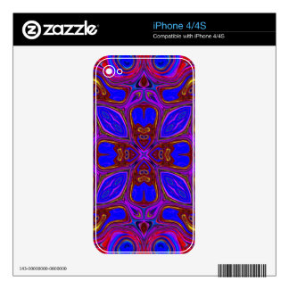 Colorful Abstract Wave iPhone 4 Decals