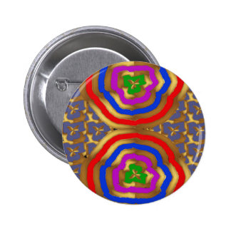 Colorful Abstract Wave Pattern artistic gifts Button