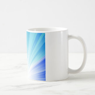 Colorful abstract waves graphic design coffee mug
