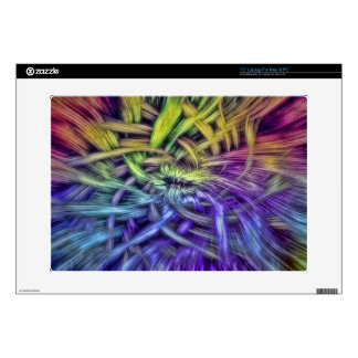 """Colorful Abstract Weave Design 15"""" Laptop Decal"""