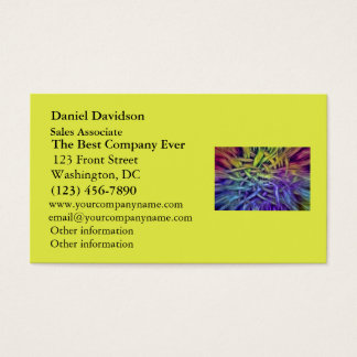 Colorful Abstract Weave Design Business Card