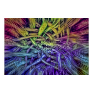 Colorful Abstract Weave Design Posters