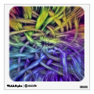 Colorful Abstract Weave Design Room Stickers
