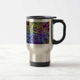 Colorful Abstract Weave Design Travel Mug