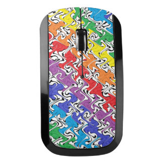 Colorful Abstract Wireless Mouse