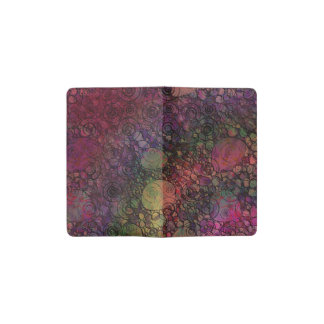 Colorful Abstract with Black & Grungy Circles Pocket Moleskine Notebook
