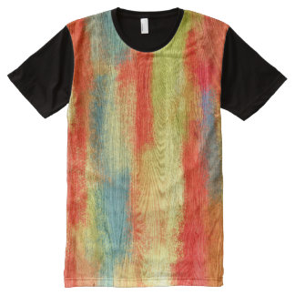 Colorful Abstract Wood Grain #2 All-Over Print T-shirt