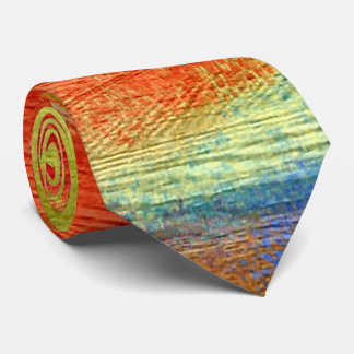 Colorful Abstract Wood Grain #3 Neck Tie
