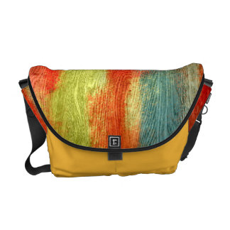 Colorful Abstract Wood Grain Courier Bag