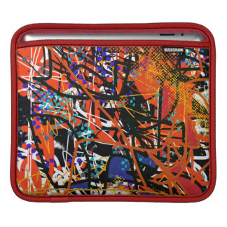 colorful abstraction art sleeve for iPads