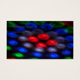 Colorful Abstraction of Light Business Card