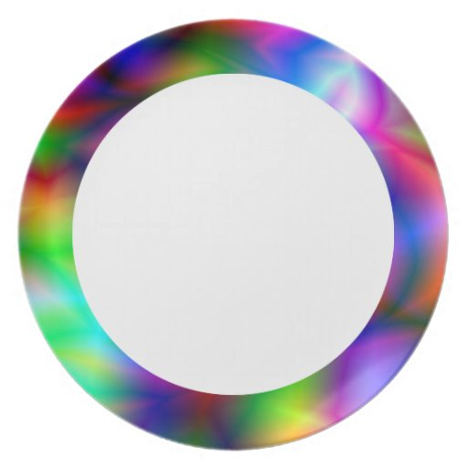 Colorful Abstraction  Plate Dinner Plates