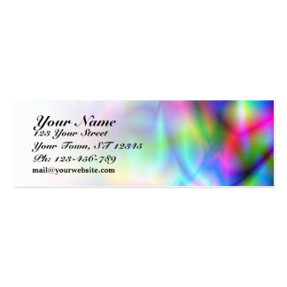 Colorful Abstraction Skinny Business Card Business Card Templates
