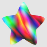 Colorful Abstraction Star Sticker Sticker