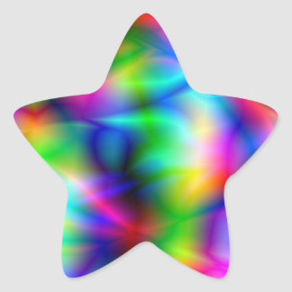 Colorful Abstraction Star Sticker Stickers