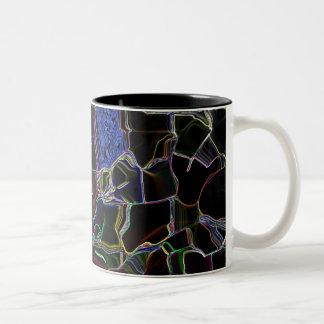 Colorful accented Black Mug