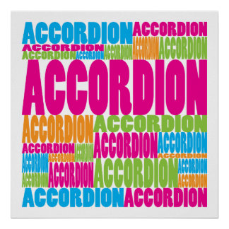 Colorful Accordion Poster