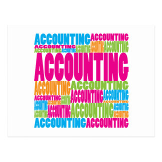 Colorful Accounting Postcard