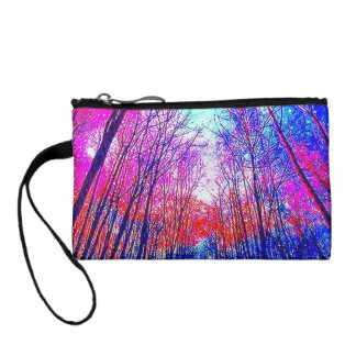Colorful Acid Forest Key Coin Clutch