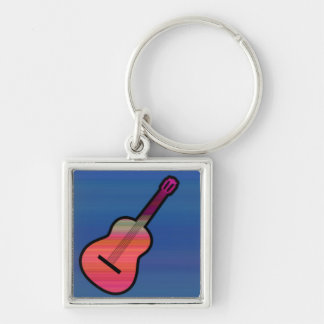Colorful Acoustic Guitar Keychain