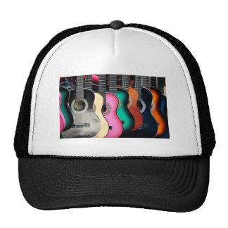 Colorful Acoustic Guitars Baseball Trucker Hat