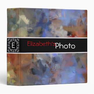 Colorful Acrylic Abstract Album Photo #10 3 Ring Binder