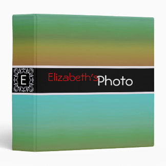 Colorful Acrylic Abstract Album Photo #4 3 Ring Binder