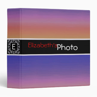 Colorful Acrylic Abstract Album Photo #5 3 Ring Binder