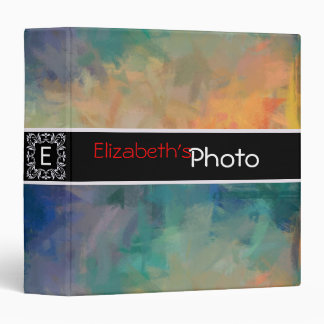 Colorful Acrylic Abstract Album Photo #9 3 Ring Binder