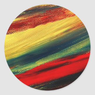Colorful Acrylic Abstract Round Stickers