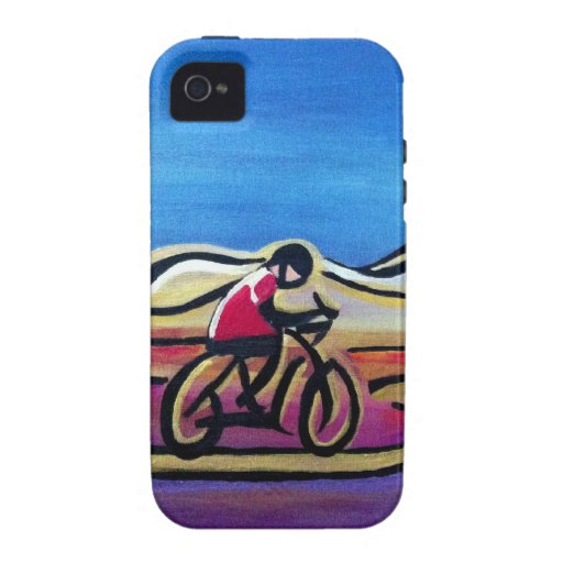 Colorful acrylic cyclist Case-Mate iPhone 4 case