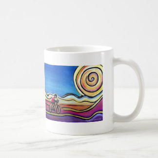 Colorful acrylic cyclist coffee mug