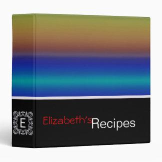 Colorful Acrylic Rainbow Abstract #4 Binder