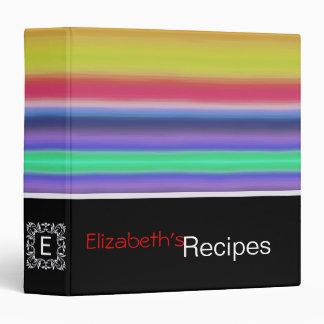 Colorful Acrylic Rainbow Abstract #5 Binder