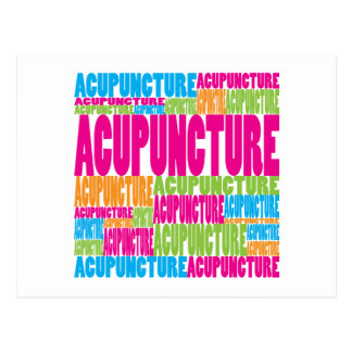 Colorful Acupuncture Post Cards